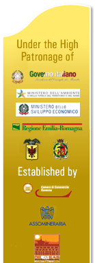 Under the High Patronage of Presidenza del Consiglio dei Ministri. Established by Camera di Commercio Ravenna, Assomineraria, Oil and Gas Contractors